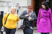 Press Eye - Belfast - Northern Ireland - 1st October 2018. Belfast woman Sarah Ewart takes her legal case back to the High Court in Belfast to challenge the abortion laws in Northern Ireland.  Five years ago Ms Ewart was forced to travel to England for a termination after being told her unborn child had no chance of survival.. Left to right.  Sarah Ewart, her mother Jane Christie and Grainne Teggart from Amnesty International pictured leaving the High Court today. . Picture by Jonathan Porter/PressEye