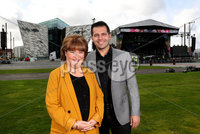 Press Eye - Belfast -  Northern Ireland - 13th September 2019 - Photo by William Cherry/Presseye .  All set for this years BBC Proms in the Park at the Titanic Slipways in Belfast are Susan Boyle, who is headlining the show and Australian tenor Mark Vincent, just some of the performers from this years show which takes place tomorrow evening (Saturday 14 September)..  . Extracts from BBC Proms In The Park in Northern Ireland will be carried nationally across BBC One and BBC Two on the night. Viewers may also to choose to watch a live stream of the Belfast show at: bbc.co.uk/nilive.  . BBC Radio Ulster will also be live on the night with presenter John Toal from 7.30pm. And BBC One Northern Ireland will broadcast a highlights programme on Sunday 22 September at 5.35pm, followed by a programme featuring highlights of Proms in the Park across the United Kingdom at 7pm on BBC Four. .  . For those attending the Belfast concert, access to the Titanic Slipways will be from 5.30pm on Saturday, September 14. As this is an outdoor event, audiences are advised to dress for the weather..  . For those using public transport, train and bus services will operate as normal. For those driving to the event there will be clear car parking signage within the Titanic Quarter and on approach roads and Queens Road. Car parking will be available on Titanic Quarter surface car parks. The parking charge is 5.00 and exits from these car parks will be restricted after the event until the Queens Road is clear of pedestrians   Photo by William Cherry/Presseye