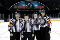 Press Eye - Belfast, Northern Ireland - 30th November 2019 - Photo by William Cherry/Presseye. Ice Officials after Saturday afternoons Friendship Four game between Princeton Tigers and UNH Wildcats at the SSE Arena, Belfast.      Photo by William Cherry/Presseye