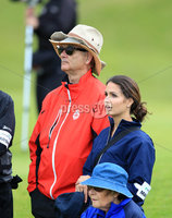 ©Press Eye Ltd Northern Ireland -29th June 2012. Mandatory Credit - Picture by Darren Kidd/Presseye.com .  . 2012 Irish Open Pro Am at Royal Portrush..  Day 2 - Billy Murray and Graeme McDowell\'s girlfriend Kristin Stape