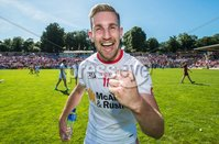 Ulster GAA Senior Football Championship Final, St Tiernach\'s Park, Clones, Co. Monaghan 16/7/2017. Down vs Tyrone. Tyrone\'s Niall Sludden celebrates the final whistle. Mandatory Credit ©INPHO/Morgan Treacy