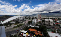 Press Eye - Belfast -  Northern Ireland - 31st May 2018 - Photo by William Cherry/Presseye. The view from Northern Ireland\'s team Hotel in San Jose, Costa Rica ahead of the International Friendly on the last leg of their tour of Central America.. Photo by William Cherry/Presseye