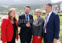Press Eye © Belfast - Northern Ireland. Photo by Freddie Parkinson / Press Eye ©. Wednesday 17th May 2017. SDLP Leader Colum Eastwood formally launched the party's 2017  . Westminster Election campaign in the Newcastle Centre, 10-14 Central Promenade, Newcastle, Co Down.. SDLP Leader Colum Eastwood and South Down\'s Margaret Ritchie with MLA\'s Sinead Bradley and Colin McGrath