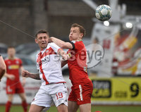 Danske Bank Premiership, Solitude Belfast, Co Antrim 10/03/2018. Cliftonville  vs Crusaders . Cliftonville\'s Liam Bagnall  in action with Crusaders Mathew Snoddy. Mandatory Credit ©INPHO/Stephen Hamilton.