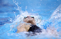 Celtic Tri Nations, National Aquatic Centre, Dublin 29/4/2012. Women\'s 200 LC Meter Backstroke. Melaine Nocher on her way to winning the final . Mandatory Credit ©INPHO/Ryan Byrne