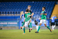 PressEye - Belfast - Northern Ireland - 10th October 2017. Euro 2019 Qualifier. Northern Ireland U21 vs Estonia U21. Pictured: Northern Ireland\'s Mark Sykes celebrates his second goal.. Picture: PressEye / Philip Magowan
