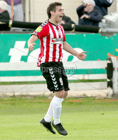 Airtricity League Premier Division, The Brandywell 13/7/2012. Derry City vs Sligo Rovers. Derry\'s Davy McDaid celebrates scoring his sides opening goal. Mandatory Credit ©INPHO/Margaret McLaughlin