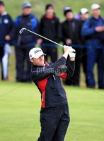 ©Press Eye Ltd Northern Ireland -30th June 2012. Mandatory Credit - Picture by Darren Kidd/Presseye.com .  . 2012 Irish Open at Royal Portrush..  Day 3 - Michael Hoey on the 16th