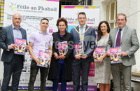 Press Eye - Belfast - Northern Ireland - 21st June 2019. Picture by Jonathan Porter/PressEye. File an Phobail 2019 August Festival Programme launch at Conway Mill in west Belfast. . Left to right.  Kevin Gamble, Michael Conlan, Roisin McDonough, Lord Mayor of Belfast John Finucane, Aine Robinson and Terry McCourt. .  . PRESS RELEASE. ON BEHALF OF FILE AN PHOBAIL. For media enquiries please contact Sen Duffy on 07554010922 or email sean@evolvecpa.com. Boxing Star Michael Conlan launches File an Phobail 2019 August Festival Programme. Boxing star Michael Conlan today launched this years File an Phobails August festival programme, along with Belfast Mayor John Finucane, at a packed Conway Mill on Belfasts Falls Road.. Opening the launch event, Belfast Mayor John Finucane said:. For more than 30 years, organisers of File an Phobail have worked tirelessly to create a diverse, open and inclusive festival which celebrates the richness and diversity of Belfasts culture and communities.. Im delighted that Belfast City Council is one of the principal funders of this festival. What started out as a small but bold community festival three decades ago, has grown into a highly anticipated and important event on the citys festival calendar, attracting thousands of people each and every year, not just from across the city but across the world.. File an Phobail brings West Belfast to life, with a unique offering of events and activities which entertain, educate and challenge.. Its reputation continues to go from strength to strength and the positive economic impact it has on our city is fantastic.. This years packed festival programme has something for everyone to enjoy. The wide variety of acts and events showcases an incredible depth of talent across music, drama and the arts.. Visitors can look forward to performances by world-renowned music stars, debates, exhibitions, plays, sporting events, family and community events, and muc