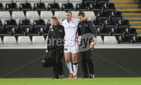 Press Eye - Belfast - Northern Ireland - 20th December 2014 - Picture by Ben Evans/ Press Eye . Ruan Pienaar of Ulster is helped off with an injury..