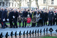 Press Eye - Belfast - Northern Ireland - 12th November 2017 . Local politicians including Christopher Stalford at The Cenotaph in the Garden of Remembrance, City Hall Grounds, Belfast during the National Day of Remembrance . It is the city of Belfast's tribute to the memory of those who died in the Great War and the Second World War. . . Photo by Kelvin Boyes / Press Eye..