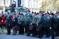 Press Eye - Belfast - Northern Ireland - 12th November 2017 . Veterans at The Cenotaph in the Garden of Remembrance, City Hall Grounds, Belfast during the National Day of Remembrance . It is the city of Belfast's tribute to the memory of those who died in the Great War and the Second World War. . . Photo by Kelvin Boyes / Press Eye..