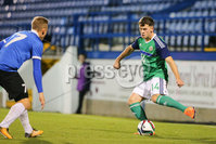 PressEye - Belfast - Northern Ireland - 10th October 2017. Euro 2019 Qualifier. Northern Ireland U21 vs Estonia U21. Pictured: Northern Ireland\'s Ben Doherty.. Picture: PressEye / Philip Magowan