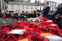 Wednesday 8th November 2017. Picture by Press Eye.com. Attending The Service at the unveiling and dedication of the memorial for the victims of the 1987 Enniskillen Poppy Day Bomb.