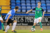 PressEye - Belfast - Northern Ireland - 10th October 2017. Euro 2019 Qualifier. Northern Ireland U21 vs Estonia U21. Pictured: Northern Ireland\'s Mark Sykes.. Picture: PressEye / Philip Magowan