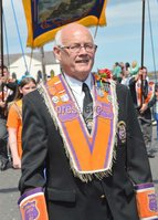 ©Press Eye Ltd Northern Ireland - 12th July  2012. Granville Francis LOL 1952 pictured at the 12th of July celebrations in Donaghadee County Down.. Mandatory Credit - Picture by Stephen Hamilton/Presseye.com.