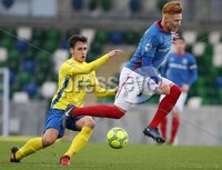 Danske Bank Premiership, Windsor Park, Belfast 2/12/2017 . Linfield vs Dungannon Swifts. Linfield\'s Chris Casement and Grant Hutchinson of Dungannon Swifts. Mandatory Credit ©INPHO/Brian Little