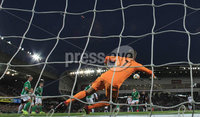 PressEye-Northern Ireland- 9th September  2019-Picture by Brian Little/PressEye. Northern Ireland goal keeper Bailey Peacock-Farrell makes save against Germany during Monday\'s  European Championship Qualifying Group C match  at the National  Football Stadium at Windsor Park,Belfast.. Picture by Brian Little/PressEye .