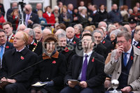Wednesday 8th November 2017. Picture by Press Eye.com.  Northern Ireland v Switzerland, World Cup Play off Secretary of State James Brokenshire, (front second right), attending The Service at the unveiling and dedication of the memorial for the victims of the 1987 Enniskillen Poppy Day Bomb.. ©presseye©