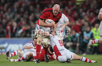 RaboDirect PRO 12, Thomond Park, Limerick 5/5/2012. Munster vs Ulster. Munster\'s Paul O\'Connell is tackled by Paul Marshall of Ulster. Mandatory Credit ©INPHO/Cathal Noonan