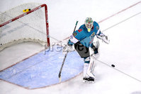 Press Eye - Belfast, Northern Ireland - 06th December 2019 - Photo by William Cherry/Presseye. Belfast Giants\' Shane Owen during Friday nights Elite Ice Hockey League game against Sheffield Steelers at the SSE Arena, Belfast.       Photo by William Cherry/Presseye