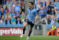 GAA Football All Ireland Senior Championship Quarter-Final, Croke Park, Dublin 2/8/2015. Dublin vs Fermanagh. Dublin\'s Bernard Brogan celebrates scoring a goal. Mandatory Credit ©INPHO/Morgan Treacy