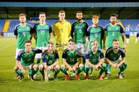 PressEye - Belfast - Northern Ireland - 10th October 2017. Euro 2019 Qualifier. Northern Ireland U21 vs Estonia U21. Pictured: Northern Ireland.. Picture: PressEye / Philip Magowan