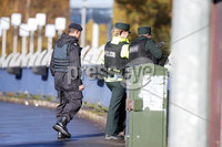 Press Eye Belfast - Northern Ireland 12th November 2017. The scene on Durmragh Avenue in Omagh where a security alert is taking place.  A Remembrance Day ceremony at the town\'s Cenotaph was called off due to the alert. . . Picture by Jonathan Porter/PressEye.com