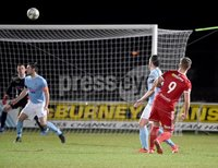 Tennent\'s Irish Cup Round 6, Windsor Park, Belfast 11/2/2019. Ballymena v Portadown.  Portadown\'s   Adam Salley fires his side into a 1-0 lead. Mandatory Credit INPHO/Stephen Hamilton.