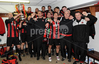 ©Press Eye Ltd Northern Ireland - 12th May 2012. Crusaders players and management celebrate after they won the Setanta cup.. Mandatory Credit - Picture by Stephen Hamilton /Presseye.com. .