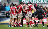 European Rugby Champions Cup Round 5, Kingspan Stadium, Belfast 13/1/2018. Ulster vs La Rochelle. Tempers flare off the ball. Mandatory Credit ©INPHO/Ryan Byrne