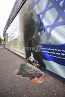 PressEye - Belfast - Northern Ireland - 13th June 2018. Murals on Beverly Street and Northumberland Street in the Greater Shankill area have been damaged in arson attacks. . They depict scenes of the role Polish airmen played in the Battle of Britain and history of Lt Colonel John Henry Patterson and the First World War.. Picture: Philip Magowan / PressEye