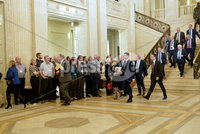 Presseye.com. 21/10/2019. MLAS pictured at Stormont where they have returned to the chamber to debate laws on abortion and same sex marriage which will change at midnight  tonight .. Mandatory Credit Stephen Hamilton /Presseye