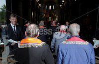 ©Press Eye Ltd Northern Ireland -29th April 2012 - Mandatory Credit - Picture by Matt Mackey/presseye.com. Hundreds of Orangeman join the City of Belfast Loyal Orange Widows Fund for a service of thanksgiving at St Annes cathedral, Belfast to commemorate the signing of the 1912 Ulster Covenant.