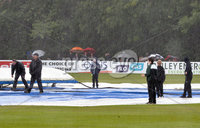 Turkish Airlines One Day International Challenge, Stormont, Belfast 13/9/2017. Ireland vs West Indies. A view of the conditions as play is called off for the day. Mandatory Credit ©INPHO/Rowland White