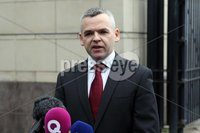 Press Eye © Belfast - Northern Ireland. Photo by Freddie Parkinson / Press Eye ©. Tuesday 10 October 2017. Laganside Crown Court. Detective Chief Inspector Eamonn Corrigan spoke to media after the tariff sentencing of Mark Ward (26) from Drumellan Gardens, Craigavon who was found guilty in June this year of murdering Marcell Seeley (34) in October 2015.