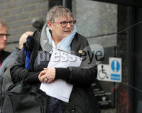 Press Eye Northern Ireland. Thursday 14th March 2019. . Bloody Sunday families leaving the City Hotel following the briefing with the Department of Public Prosecutions.. Jean Hegarty.. Photo Lorcan Doherty/Presseye