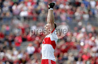 Ulster GAA Minor Football Championship Final, St Tiernach\'s Park, Clones, Co. Monaghan 16/7/2017. Derry vs Cavan. Derry\'s Oisin MCWilliams celebrates. Mandatory Credit ©INPHO/Morgan Treacy