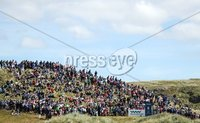 2018 Dubai Duty Free Irish Open - Day 1, Ballyliffin Golf Club, Co. Donegal 5/7/2018. A view of the gallery at the eighth tee box. Mandatory Credit ©INPHO/Oisin Keniry