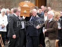 Press Eye Belfast - Northern Ireland 19th May2017. Funeral of Concepta Leonard in Brookeborough, Co. Fermanagh.  The 51-year-old died after after being attacked by her former partner on Monday in Maguiresbridge on Monday.  Peadar Phair then went on to kill himself at the scene.  Mrs Leonard\'s 30-year-old son Conor, who has Down\'s syndrome, was injured while trying to protect his mother went on to raise the alarm.  . Family and friends carry Mrs Leonard\'s coffin from St Mary\'s Church in Brookeborough after require mass. . Picture by Jonathan Porter/PressEye.com