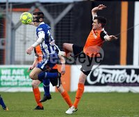 Danske Bank Premiership, Belfast Loughshore Hotels Arena 2/12/2017 . Carrick Rangers vs Coleraine. Brad Lyons of Coleraine and Michael Smith of Carrick. Mandatory Credit ©INPHO/Freddie Parkinson