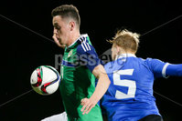 PressEye - Belfast - Northern Ireland - 10th October 2017. Euro 2019 Qualifier. Northern Ireland U21 vs Estonia U21. Pictured: Northern Ireland\'s David Parkhouse.. Picture: PressEye / Philip Magowan
