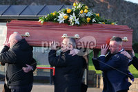 Press Eye - Belfast - Northern Ireland - 15th January 2020. Funeral of murder victim Glenn Quinn at Joymount Presbyterian Church in Carrickfergus.  A murder investigation was launched after the body of the 47-year-old was found at his Carrick home on 4th January.. Picture by Jonathan Porter/PressEye