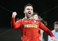 Press Eye - Belfast - 6th January 2018  . Cliftonville v Warrenpiont Town, Tennents Irish Cup 5th round at Solitude, North Belfast.. Cliftonville\'s Jamie Harney celebrates scoring in extra time. Picture by Matt Mackey / Inpho.ie