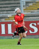 Ulster GAA Minor Hurling Championship Semi Final - Armagh V Down - 1 July 2012. Copyright Presseye.com. Mandatory Credit Declan Roughan / Presseye. Downs\'sEoghan Sands scores against Armagh