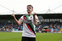 Danske Bank Premiership, Showgrounds, Ballymena  24/8/2019. Ballymena United  vs Glentoran FC . Glentoran Robbie McDaid  celebrates scoring the winning goal  against Ballymena United.. Mandatory Credit  INPHO/Brian Little