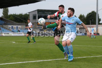 Danske Bank Premiership, Showgrounds, Ballymena  24/8/2019. Ballymena United  vs Glentoran FC . Ballymena United\'s  Cathair Friel  and  Patrick McClean of Glentoran .. Mandatory Credit  INPHO/Brian Little