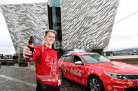 Press Release Image. Press Eye Belfast - Northern Ireland 28th November 2017Picture by William Cherry  / Press Eye.com. Rugby star Craig Gilroy get the 'Gift of a Lift' this Christmas as they launch Coca-Cola's 2017 Designated Driver campaign.. Ulster and Ireland rugby star Craig Gilroy gives the gift of a lift at the launch of Coca-Cola's 2017 Designated Driver campaign. . The aim of the campaign to encourage people across Ireland to give the 'Gift of a Lift' to friends and loved-ones this Christmas, by staying sober and being the Designated Driver on a night out and enjoy two free drinks from Coca-Cola.  For the first time Designated Drivers can now use the mobile wallet app on their smart phones to easily access the Coca-Cola vouchers. The new digital voucher can be claimed by scanning the QR code (found on point-of-sale materials in bars and restaurants across the country) or by free texting Coca-Cola to 50015 in Republic of Ireland and Coca-Cola to 80800 in Northern Ireland throughout the holiday season. . Coca-Cola is proud to support Irish road safety by rewarding Designated Drivers with two FREE Drinks from the Coca-Cola range. . For more information and a list of participating outlets, visit www.designateddriver.ie  . Twitter: @CocaColaie. Hashtag: #DesignatedDriver. Website: designateddriver.ie . Facebook: facebook.com/Coca-Cola. --- ENDS ---. For further information, please contact Eimhear Breen, Edelman:. Email: Eimhear.breen@edelman.com . Phone: 01 678 9333 / 087 0987893.