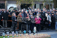 Press Eye - Belfast - Northern Ireland - 12th November 2017 . Members of the public at The Cenotaph in the Garden of Remembrance, City Hall Grounds, Belfast during the National Day of Remembrance . It is the city of Belfast's tribute to the memory of those who died in the Great War and the Second World War. . . Photo by Kelvin Boyes / Press Eye..