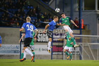 PressEye - Belfast - Northern Ireland - 10th October 2017. Euro 2019 Qualifier. Northern Ireland U21 vs Estonia U21. Pictured: Northern Ireland\'s David Parkhouse and Estonia\'s Soren Kaldma.. Picture: PressEye / Philip Magowan